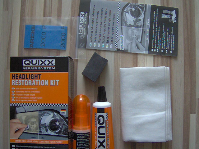 quixx headlight restoration kit instructions